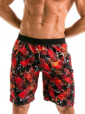 Geronimo Board Shorts, Item number: 1914p4 Red Boardshorts for men, Color: Red, photo 1