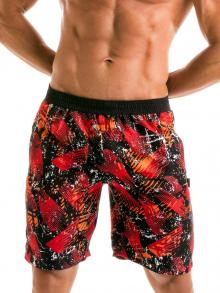 Board Shorts, Geronimo, Item number: 1914p4 Red Boardshorts for men