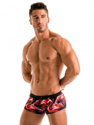 Geronimo Square Shorts, Item number: 1914b2 Flamingo Square trunk, Color: Multi, photo 4