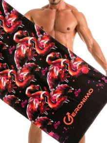 Beach Towels, Geronimo, Item number: 1914x1 Black Flamingo Towel