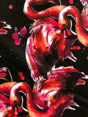 Geronimo Beach Towels, Item number: 1914x1 Black Flamingo Towel, Color: Black, photo 3