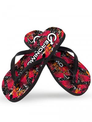 Geronimo Flip Flops, Item number: 1914f1 Red Flip Flops for Men, Color: Multi, photo 1