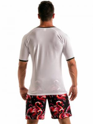 Geronimo T shirts, Item number: 1914t5 White Flamingo T-shirt, Color: White, photo 5