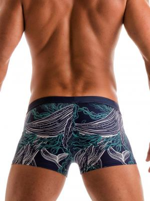 Geronimo Boxers, Item number: 1902b1 Blue Whale Swim Trunk, Color: Blue, photo 5