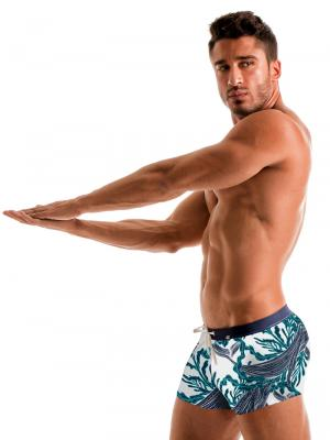 Geronimo Boxers, Item number: 1902b1 White Whale Swim Trunk, Color: White, photo 4