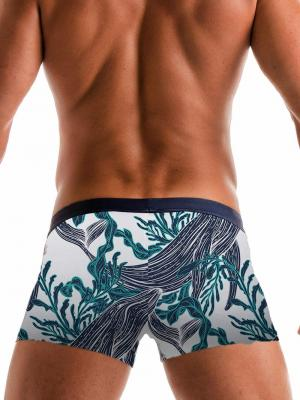 Geronimo Boxers, Item number: 1902b1 White Whale Swim Trunk, Color: White, photo 5