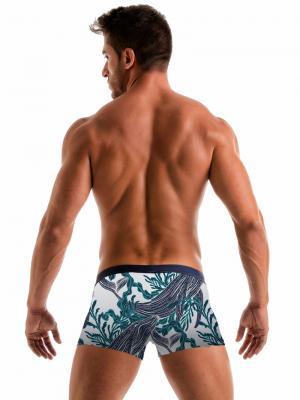 Geronimo Boxers, Item number: 1902b1 White Whale Swim Trunk, Color: White, photo 6