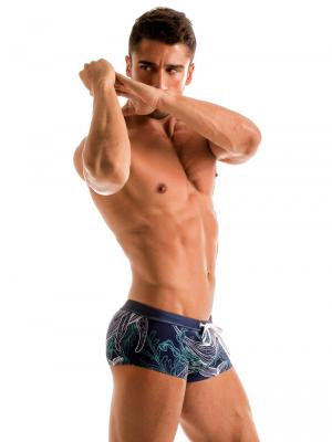 Geronimo Square Shorts, Item number: 1902b2 Blue Whale Hipster, Color: Blue, photo 4
