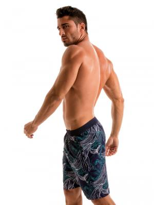 Geronimo Board Shorts, Item number: 1902p4 Blue Whale Surf Short, Color: Blue, photo 4