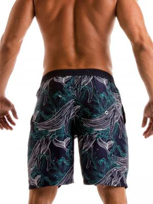 Geronimo Board Shorts, Item number: 1902p4 Blue Whale Surf Short, Color: Blue, photo 5