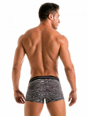 Geronimo Boxers, Item number: 1917b1 Black Wave Swim Trunk, Color: Black, photo 5