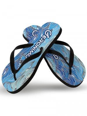 Geronimo Flip Flops, Item number: 1918f1 Blue Seaweed Flip Flops, Color: Blue, photo 1
