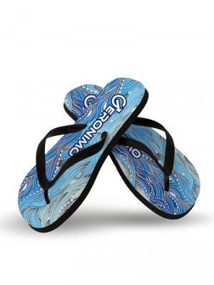 Geronimo Flip Flops, Item number: 1918f1 Blue Seaweed Flip Flops, Color: Blue, photo 2