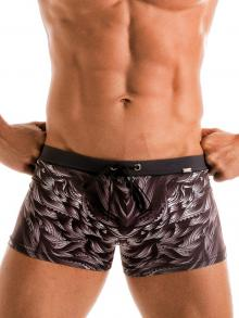 Boxers, Geronimo, Item number: 1918b1 Black Seaweed Swim Trunk
