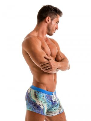 Geronimo Boxers, Item number: 1918b1 Coral Seaweed Swim Trunk, Color: Blue, photo 4