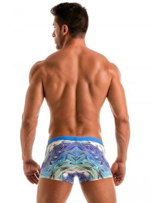 Geronimo Boxers, Item number: 1918b1 Coral Seaweed Swim Trunk, Color: Blue, photo 6