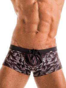 Square Shorts, Geronimo, Item number: 1918b2 Black Seaweed Hipster