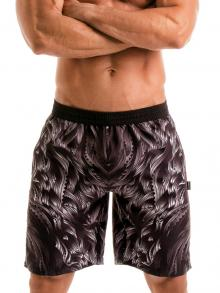 Board Shorts, Geronimo, Item number: 1918p4 Black Seaweed Shorts