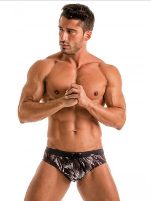 Geronimo Briefs, Item number: Black Seaweed Swim Brief, Color: Black, photo 2