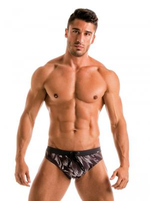 Geronimo Briefs, Item number: Black Seaweed Swim Brief, Color: Black, photo 3