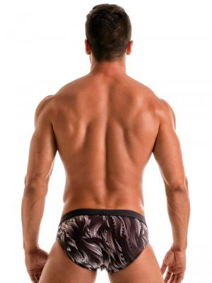 Geronimo Briefs, Item number: Black Seaweed Swim Brief, Color: Black, photo 8