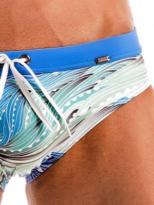 Geronimo Briefs, Item number: Blue Coral Seaweed Swim Brief, Color: Blue, photo 3