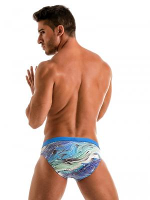 Geronimo Briefs, Item number: Blue Coral Seaweed Swim Brief, Color: Blue, photo 6