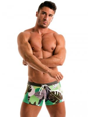 Geronimo Boxers, Item number: 1905b1 Green Swim Trunk, Color: Green, photo 2