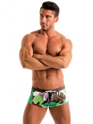 Geronimo Square Shorts, Item number: 1905b2 Green Square cut Trunk, Color: Green, photo 4