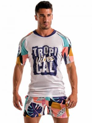 Geronimo T shirts, Item number: 1905t5 Purple Tropical T-shirt, Color: Purple, photo 2