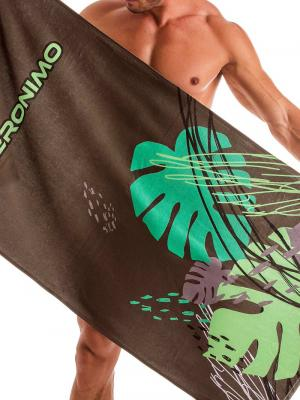 Geronimo Beach Towels, Item number: 1905x1 Brown Tropical Towel, Color: Brown, photo 1