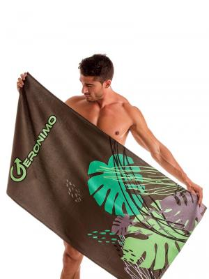 Geronimo Beach Towels, Item number: 1905x1 Brown Tropical Towel, Color: Brown, photo 2