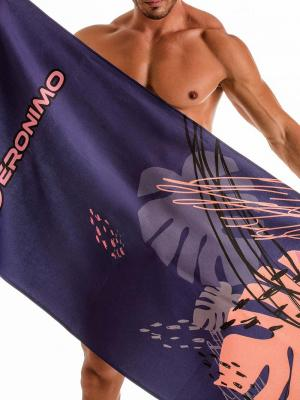 Geronimo Beach Towels, Item number: 1905x1 Purple Tropical Beach Towel, Color: Purple, photo 1