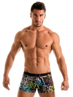 Geronimo Boxers, Item number: 1907b1 Blue Splatter Swim Trunk , Color: Blue, photo 2