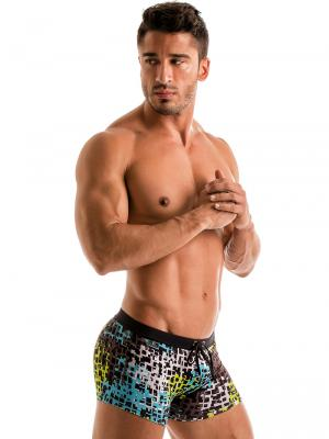 Geronimo Boxers, Item number: 1907b1 Blue Splatter Swim Trunk , Color: Blue, photo 4