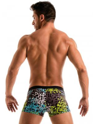 Geronimo Boxers, Item number: 1907b1 Blue Splatter Swim Trunk , Color: Blue, photo 6