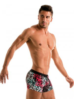 Geronimo Boxers, Item number: 1907b1 Red Splatter Swim Trunk, Color: Red, photo 4