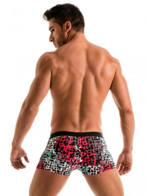 Geronimo Boxers, Item number: 1907b1 Red Splatter Swim Trunk, Color: Red, photo 6