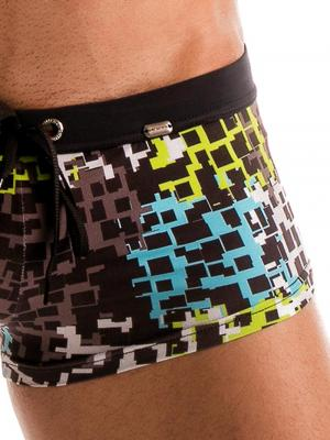 Geronimo Square Shorts, Item number: 1907b2 Blue Splatter Square cut, Color: Blue, photo 3