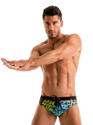 Geronimo Briefs, Item number: 1907s2 Blue Splatter Swim Brief, Color: Blue, photo 5