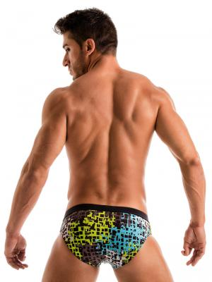 Geronimo Briefs, Item number: 1907s2 Blue Splatter Swim Brief, Color: Blue, photo 8