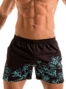 Swim Shorts, Geronimo, Item number: 1907p1 Blue Matrix Shorts