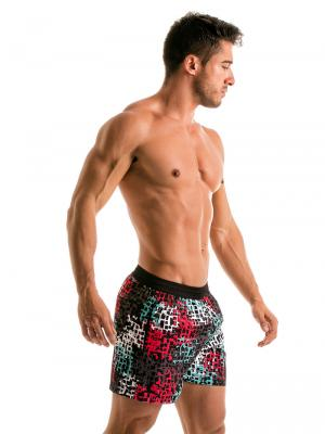 Geronimo Swim Shorts, Item number: 1907p1 Red Splatter Swim Shorts, Color: Red, photo 3