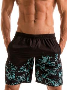 Board Shorts, Geronimo, Item number: 1907p4 Blue Matrix Surf Shorts
