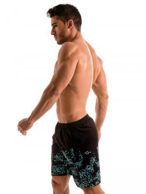 Geronimo Board Shorts, Item number: 1907p4 Blue Matrix Surf Shorts, Color: Blue, photo 4