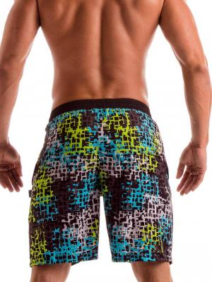 Geronimo Board Shorts, Item number: 1907p4 Galaxy Matrix Surf Shorts, Color: Multi, photo 4