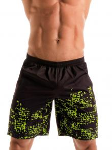 Board Shorts, Geronimo, Item number: 1907p4 Black Matrix Surf Shorts