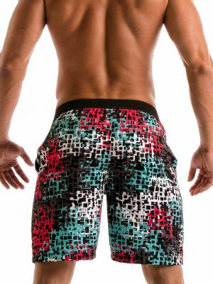 Geronimo Board Shorts, Item number: 1907p4 Red Splatter Surf Shorts, Color: Red, photo 4