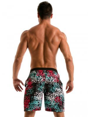 Geronimo Board Shorts, Item number: 1907p4 Red Splatter Surf Shorts, Color: Red, photo 5