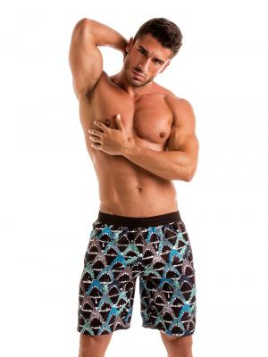 Geronimo Board Shorts, Item number: 1909p4 Blue Shark Surf Shorts, Color: Blue, photo 2